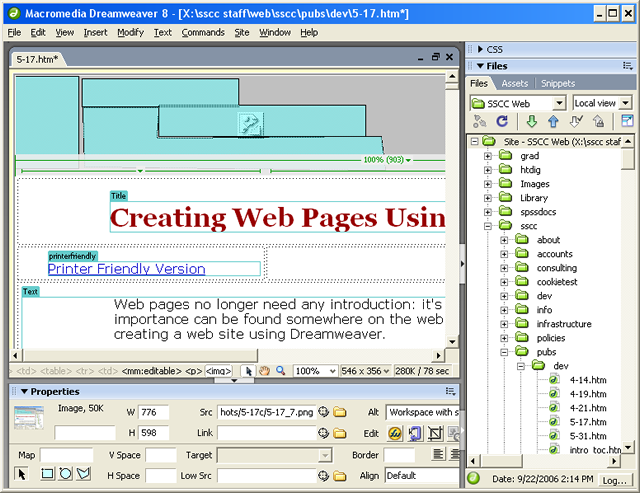 Creating Web Pages Using Dreamweaver