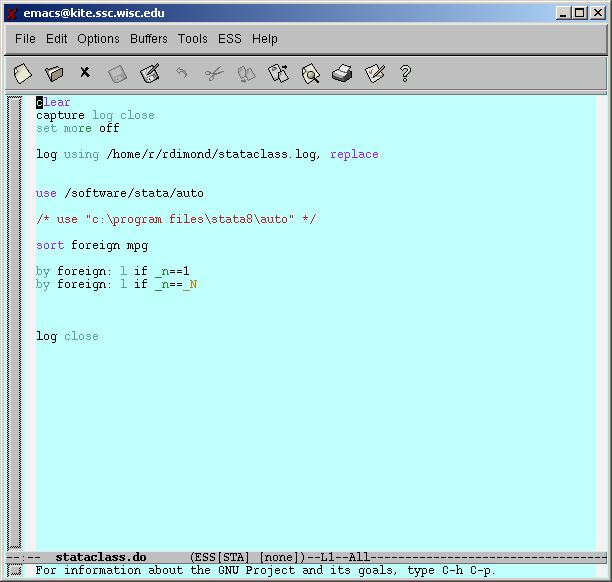 Using Emacs