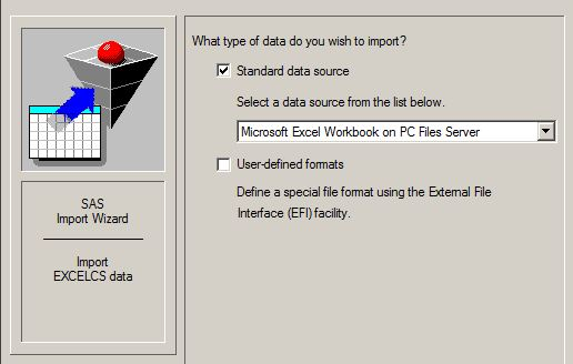 SAS and Excel Files on Winstat