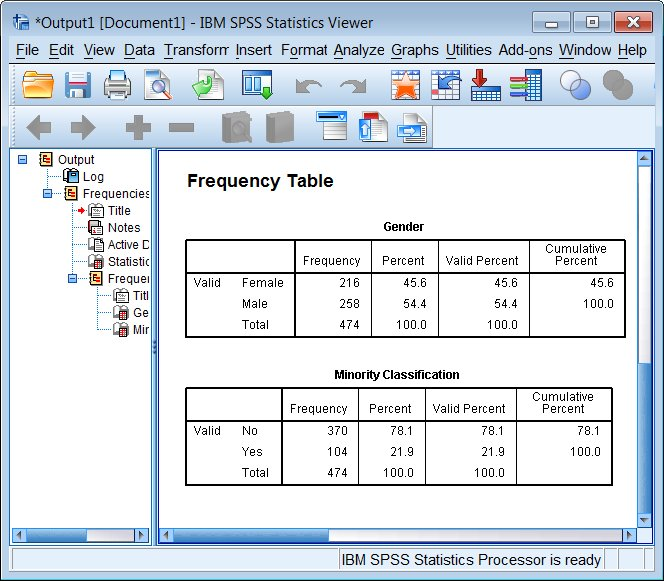 SPSS Research Report Writing