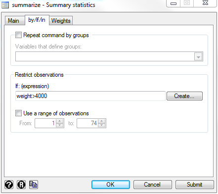 Stata for Students: Basic Statistics, Regression and Graphs