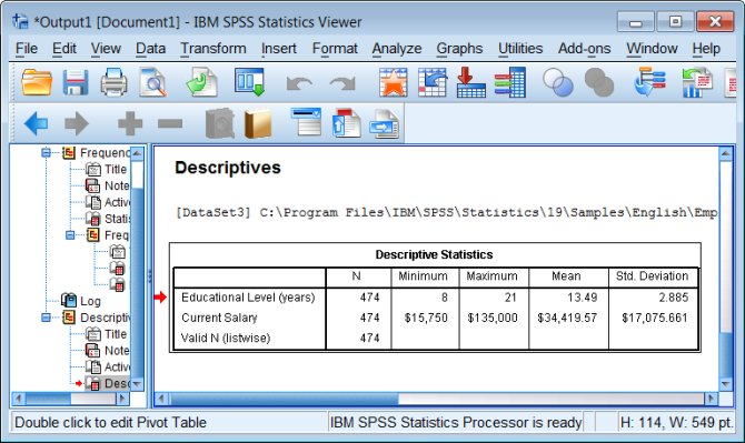 Dissertation Using Descriptive Statistics