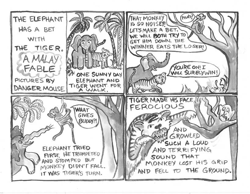 the elephant has a bet with the tiger  u2013 a malay fable